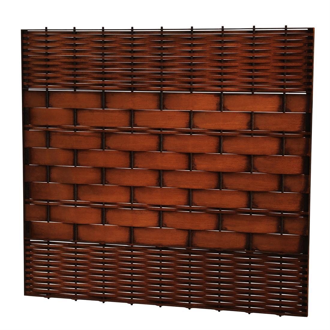 Sichtschutzelement aus Rohstahl oder Cortenstahl