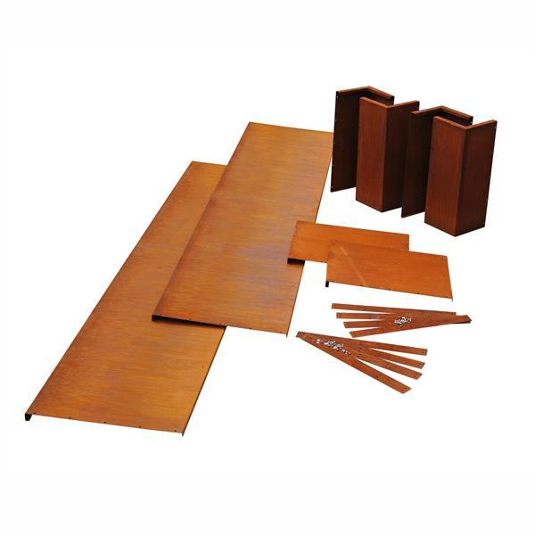 beeteinfassungen trockenmauern aus metall. Black Bedroom Furniture Sets. Home Design Ideas